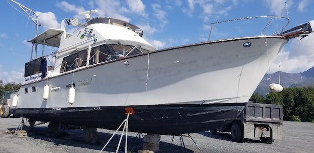 REDUCED! 48' ALBIN AFT CABIN MY.  TWIN 325 HP VOLVO's, GEN, INVERTER. NICE PRICE $99,000