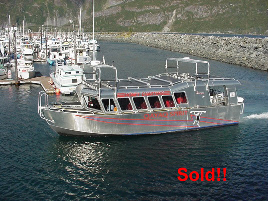 REDUCED! 42' X 14' PEREGRINE MARINE ALUMINUM PASSENGER VESSEL.  CURRENT COI FOR 30 PERSONS