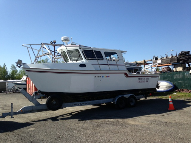 NEW! 30' X 10 MID-JET ALUMINUM SPORTFISHER, D-6 VOLVO LOW HOURS, TRAILER, WHITTIER TRANS RIGHTS