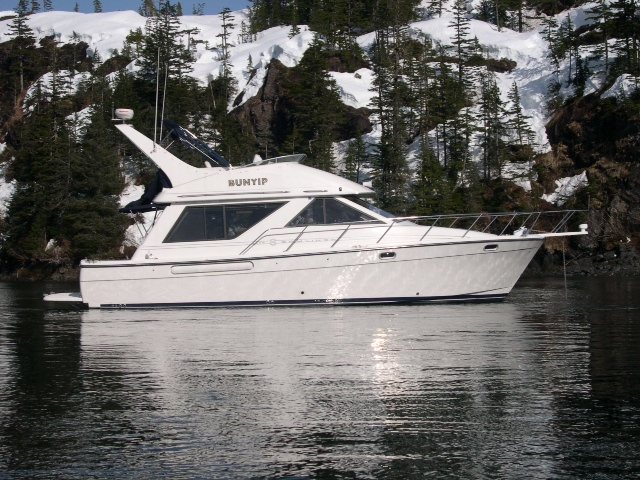 NEW! 2001 BAYLINER 3988 MOTORYACHT. 600 HOURS TWIN 330 HP CUMMINS, CLEAN, ASKING $125,000