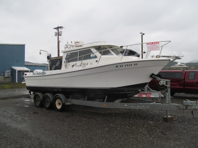 JUST REDUCED TO $52,0001999 27' SKAGIT ORCA, 8.1L GAS, TRIPLE TRAILER, NICE ELECTRONICS