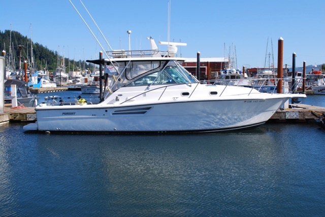 Reduced! GORGEOUS 34' Pursuit 3400 Offshore, Twin 370 HP Volvo's, Gen, Trailer,  $125,000